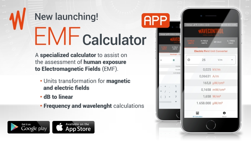 Wavecontrol launches an EMF Calculator app for Android and iOS