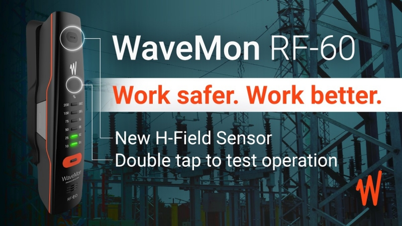 WaveMon RF-60. New H-Field Sensor and double tap test function