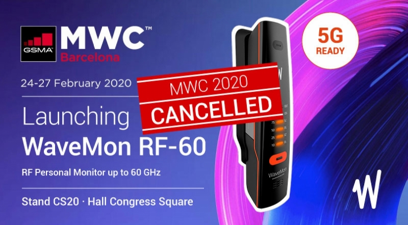Wavecontrol to launch WaveMon RF-60, personal monitor up to 60 GHz, at Mobile World Congress 2020